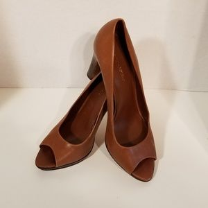 Banana Republic Leather Peep Toe  High Heels